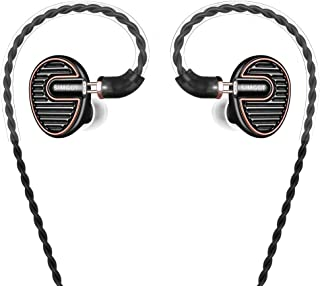 SIMGOT EN700 PRO High Fidelity in-Ear Monitor Headphones with Detachable Cable, Hi-Res Audio Earbuds with Dynamic Balanced Driver, Professional IEM Earphones, Noise-Isolating Musician Headset (Black)