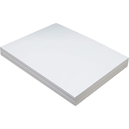 5281 100 Sheets Pacon Medium Weight Tagboard White 9 x 12 Inches