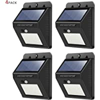 4 Pack 30 LED Wireless Waterproof Solar Motion Sensor Lights for Outdoor Use