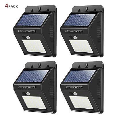 Solar Lights Outdoor,30 LED Wireless Waterproof...