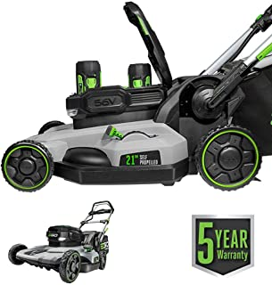 EGO Power+ LM2142SP 21-Inch 56-Volt Lithium-Ion Cordless Electric Dual-Port Walk Behind Self Propelled Lawn Mower with Two...