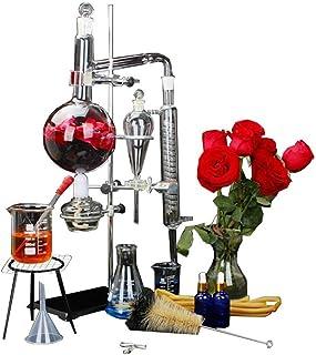 1000ml New Lab Essential Oil Distillation Apparatus Water Distiller Purifier Glassware Kits w/Separatory Funnel Condenser ...