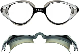 ROKA X1 Anti-Fog Low-Drag Large Swim Goggles for Men and...