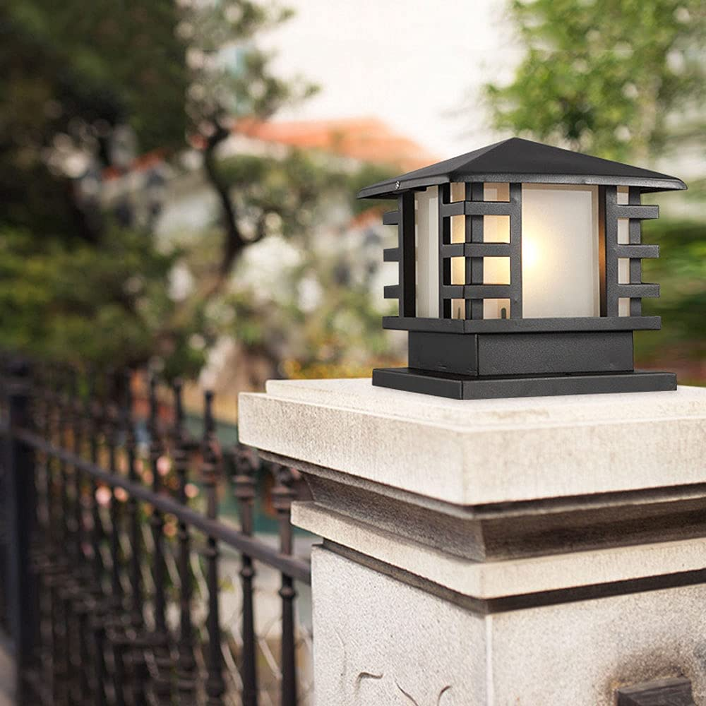 Outdoor Post Outstanding Lights Excellent E27 Traditional Lamp Outdo Waterproof Pillar