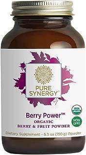 Pure Synergy Organic Berry Power 20+ Superfruit Blend for Radiant Health w/Acai, Pomegranate (5.3 oz.)