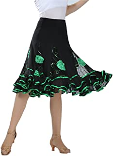 Elegant Ballroom Dancing Latin Dance Party Long Swing Skirt