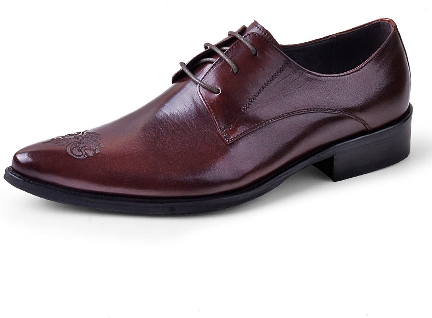 XLY Business Oxford shoes England Genuine Leather breathable men's shoes Brock carved dress shoes men's summer shoes