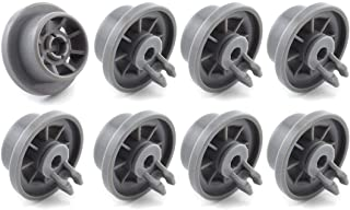 SDTC Tech 8 Pack 165314 Dishwasher Lower Rack Wheel Replacement Part Dishwasher Basket Rail Roller Wheels Compatible with 420198 423232 AP2802428 PS3439123