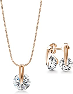 Mestige Necklace and Earrings Set, with Swarovski Crystals - MSSE3332