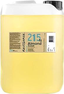 Naissance natürliches Mandelöl süß Nr. 215 5 Liter 5000ml - Vegan, gentechnikfrei - Ideal zur Haar- und Körperpflege, für Aromatherapie und als Basisöl für Massageöle