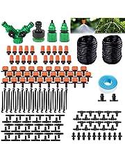 DONGQI Bewässerungsrohre kit bevattningssystem, droppbevattningssystem, 149 stycken gör-det-själv mikrosystem, automatisk sprinklerdroppe trädgårdsbevattning för växt