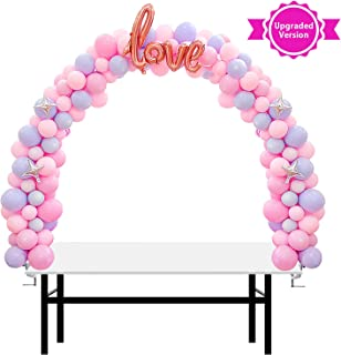 AXHJ 13Ft Adjustable Balloon Arch Stand Kit, New Reusable Table balloon arch kit with base High Strength Glass Fiber Pole for DIY Party Wedding Birthday Baby Shower Xmas Festival Decorations