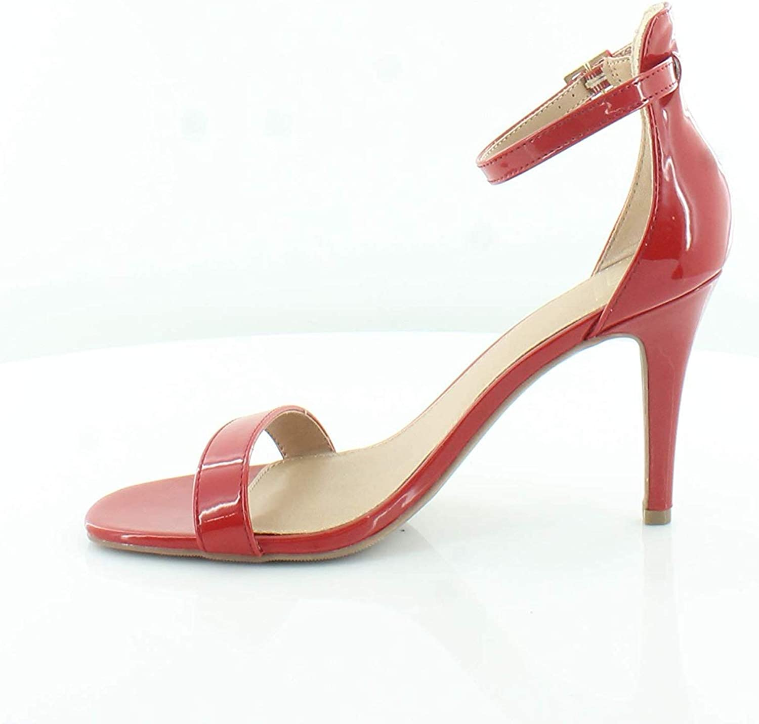 Material Girl Womens Blaire6 Open Toe Formal Ankle Strap Sandals, Red, Size 7.5