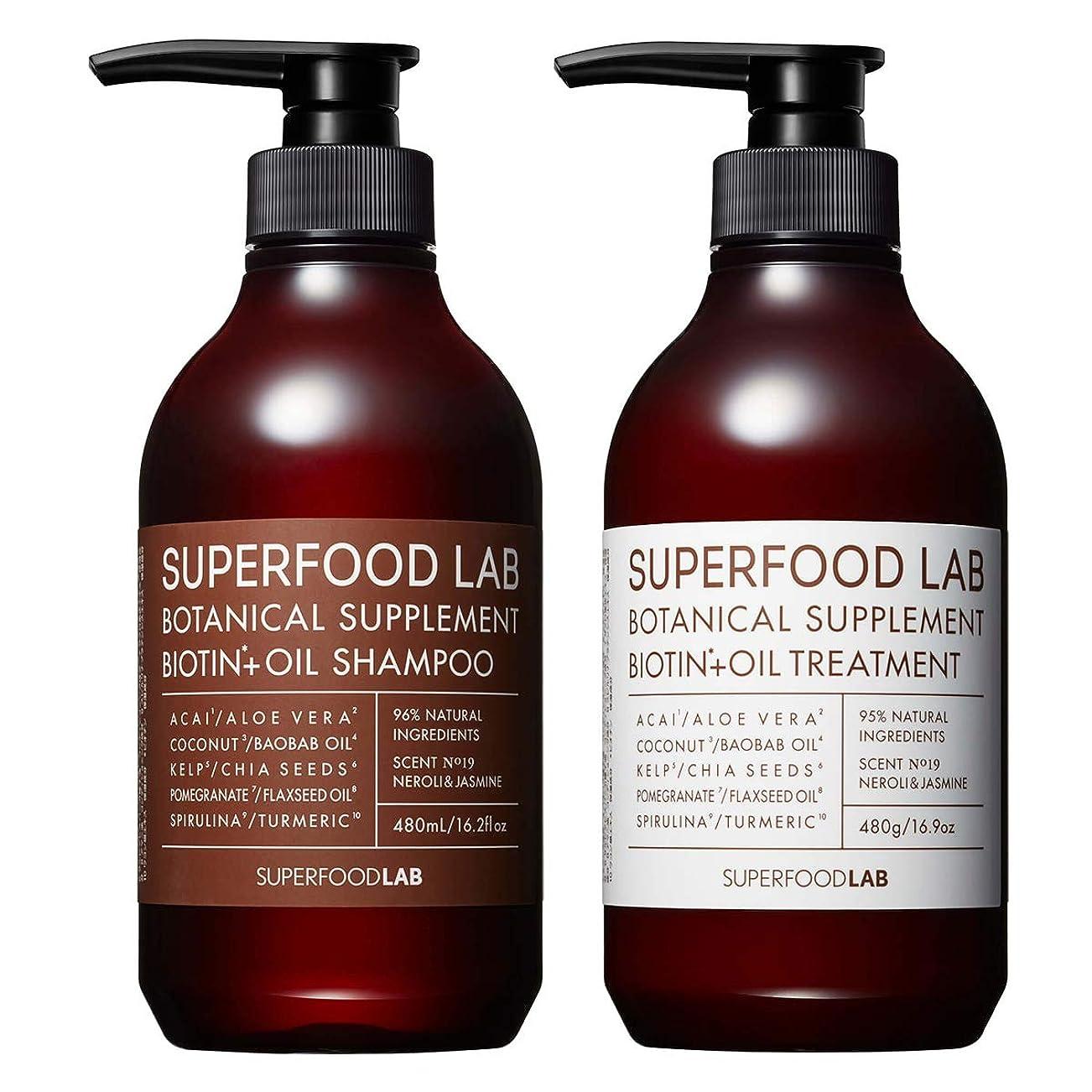 天良性作成者SUPERFOOD LAB BIOTIN + OIL SHAMPOO & TREATMENT