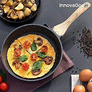 InnovaGoods Kitchen Cookware Sartén Premium Granite-Effect (24 cm), Aluminio forjado
