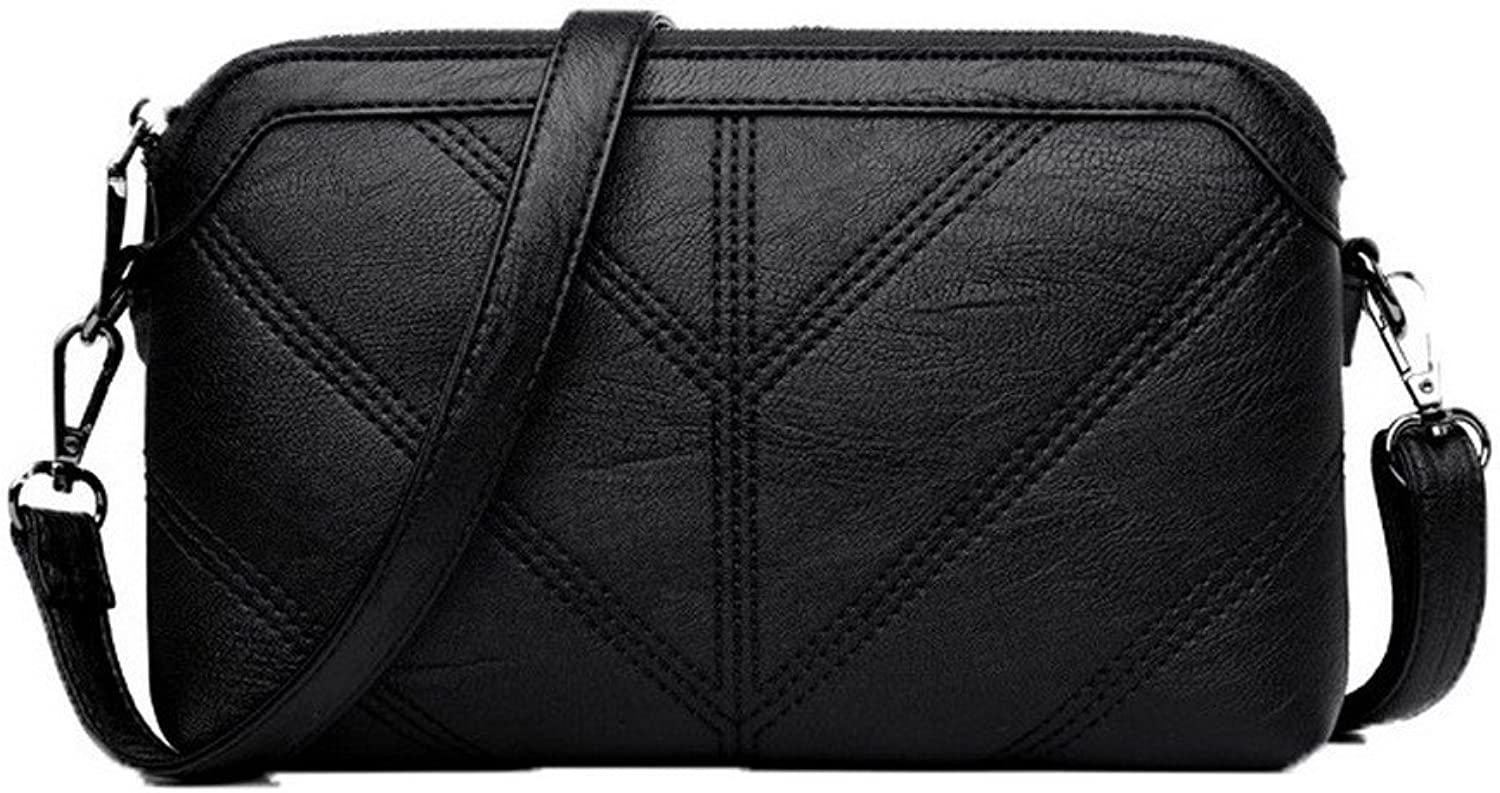 WeenFashion Women's Fashion Casual Zippers Pu Clutch Bag Crossbody Bags,AMGBX180961