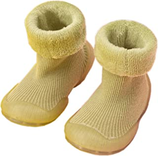 HOWELL Baby Toddler Winter Warm Sock Shoes Anti Slip Thick Knee High Cotton Sock Indoor Floor Moccasins for Boys & Girls