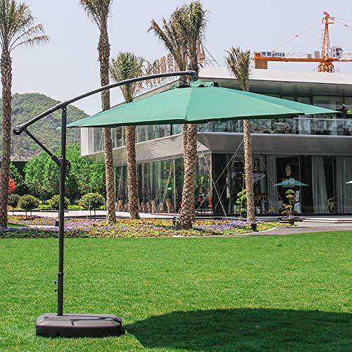 PARASOL Outdoor Garden Beach, Banana Roman Umbrella, For Balcony Swimming Pool Resort Hotel, Hand Crank, With Base