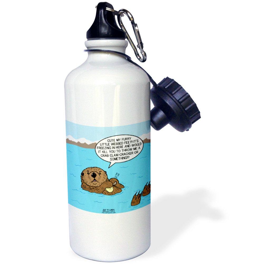3drose Sea Otter Sour Grapes Sports Water Bottle 21 Oz White Buy Online In Aruba At Aruba Desertcart Com Productid 105215982