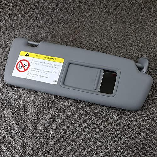 Qind1aS Panel de visera frontal gris oscuro con espejo de maquillaje para Audi A3 Sportback 2014 2015 2016 2017 2018 2019 8V0857552 8V0857551 Accesorios (8V0857552 derecha)