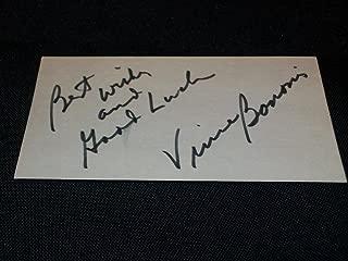 Detroit Mercy Lions Cardinals Vince Banonis Signed Auto Vintage 3x5 Index Card