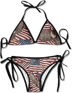 Ogbcom Women's USA Flag Eagle Bikini Swimsuit Beach Swimsuit Push Up Swimsuit