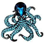 YACQ Jewelry Crystal Creepy Octopus Pin Brooch for Halloween Costume Accessories Party Women Teen Girl 6