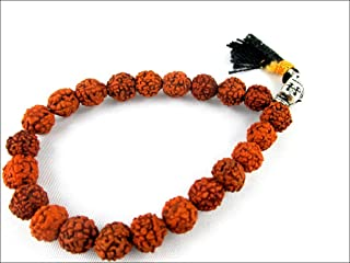 HiJet Beautiful Rudraksha Buddha Head Stretch Bracelet Mala 8