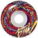 Blind Spiel 4-Rollen Skateboard-Trip Out Snakeskin Weiß Rot...