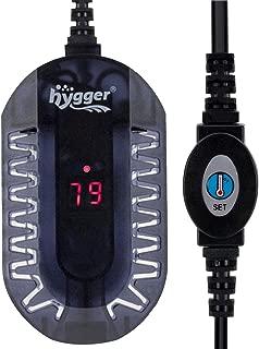 Hygger Mini Glass Aquarium Heater 50W 100W Adjustable LED Digital Temperature Display Small Tank Heater for Turtle Betta Fish Bowl with Protective Guard