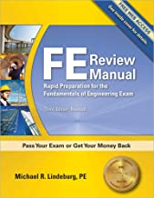 PPI FE Review Manual: Rapid Preparation for the Fundamentals of Engineering Exam, 3rd Edition (Paperback) – A Comprehensiv...