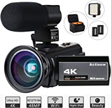 Video Camera 4K Camcorder Ultra HD 48MP WiFi IR Night Vision Vlogging Camera 3