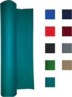 Performance Grade Pool Table Felt - Billiard Cloth - for 7, 8 or 9 Foot Table Choose English Green, Burgundy, Blue, Light Gray, Navy Blue, Black, Red, or Tan