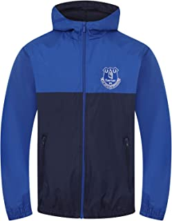 Everton FC Official Football Gift Boys Quilted Hooded Winter Jacket