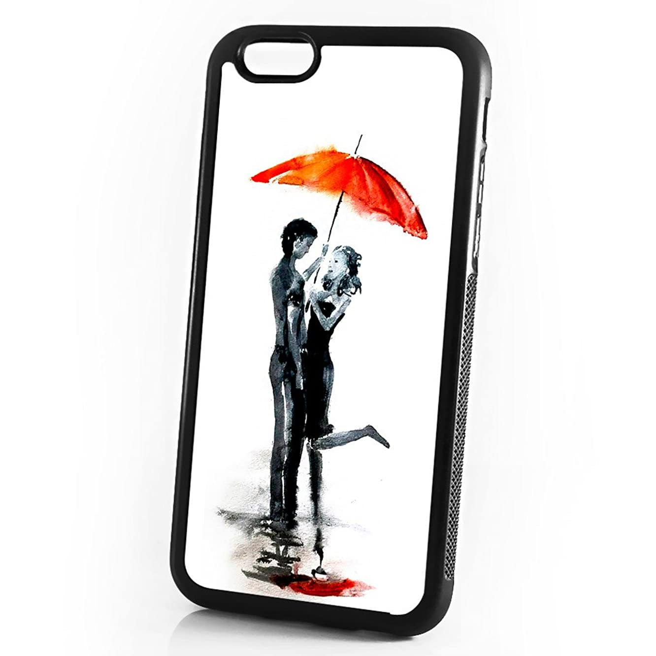 (for iPhone 6 / iPhone 6S) Shock Proof Soft Phone Case Cover Phone Case Back Cover - HOT10145 Lover Red Umbrella