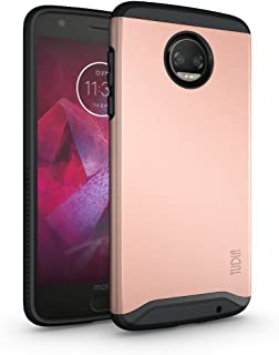 Moto Z2 Force Case, TUDIA Slim-Fit Heavy Duty [Merge] Extreme Protection/Rugged but Slim Dual Layer Case for Motorola Moto Z Force (2nd Generation), Moto Z2 Force Droid Edition (Rose Gold)