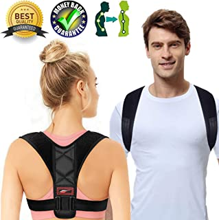 Posture Corrector for Women Men Posture Brace Orthopedic Posture Corrector Relieves Upper Back Shoulders Pain Corrects Slouching Hunching Bad Posture Adjustable (Posture Corrector, 26