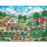 Abkaeh Puzzle Adultos 1000 Piezas Jardín Soleado Puzzle de Desafío Cerebral para niños Cerebral Juego de Alta dificultad Regalo para Niño 50x75cm