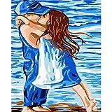 ZXDA Pintura por números niños Lindos DIY Pintura al óleo fantásticas imágenes de Dibujo sobre Lienzo decoración de habitación A1 50x70cm