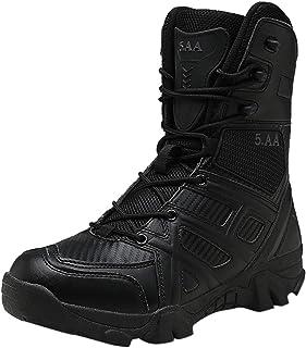 Bottes Hautes Homme Vintage Mode Pas Cher Militaires LéGèRes Desert Boots en Cuir Bottines AntidéRapant Hiver Chaud Outdoo...
