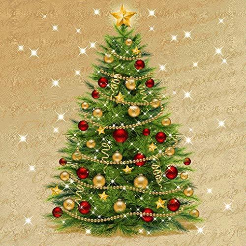 Susy Card 11383890 Weihnachts-Serviette, Tissue bedruckt, 3-lagig, 20er Packung, Motiv: Christmas tree, 33 x 33 cm