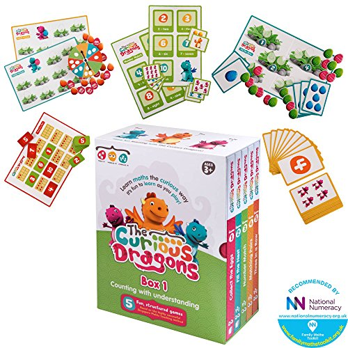 The Curious Dragons - Counting With Understanding - Five Fun, Structured Games - Multi Award Winning Educational Maths Game Based On The Singapore Method For Ages 3+