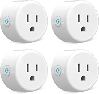 WiFi Smart Plug - Mini Smart Outlets Work with Alexa and Google Home, Remote Control Plugs with Timer Function, ETL/FCC/Ro...