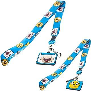 Adventure Time Finn y Jake Lanyard con colgante de goma de caracteres (azul)