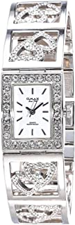 Omax Women's White Dial Metal Band Watch - JH0288P093
