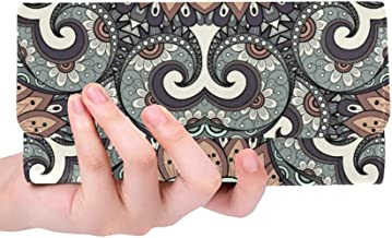 Unique Custom Mandala Texture And Vintage Indian Style Women Trifold Wallet Long Purse Credit Card Holder Case Handbag