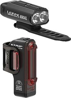 Lezyne Micro Drive 500XL et KTV phare et feu arrière Set NOIR BRILLANT