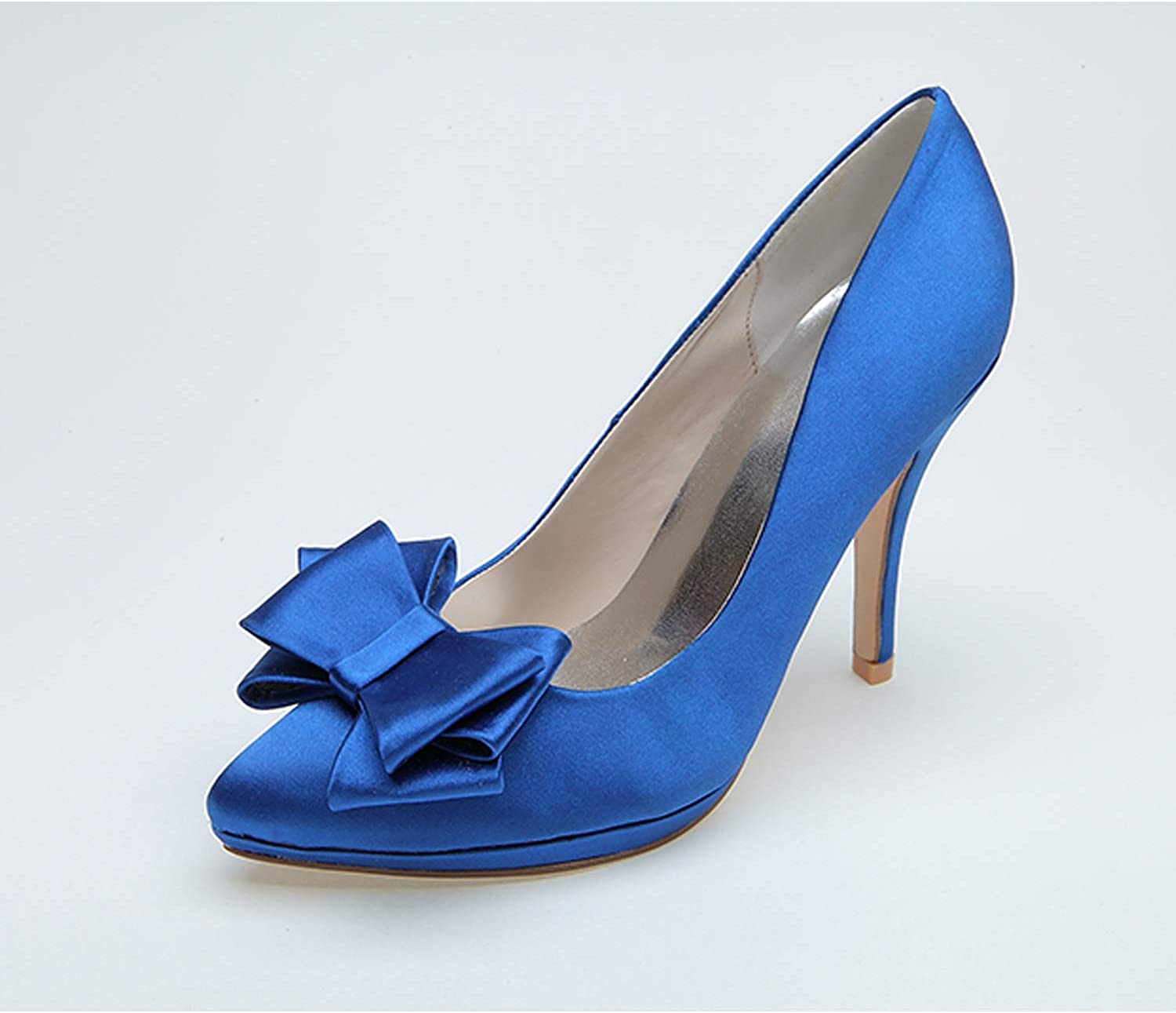 YUGUO High Heels High-Grade New Spring Summer and Autumn High Heel Stiletto BowWild Pointed shoes shoes