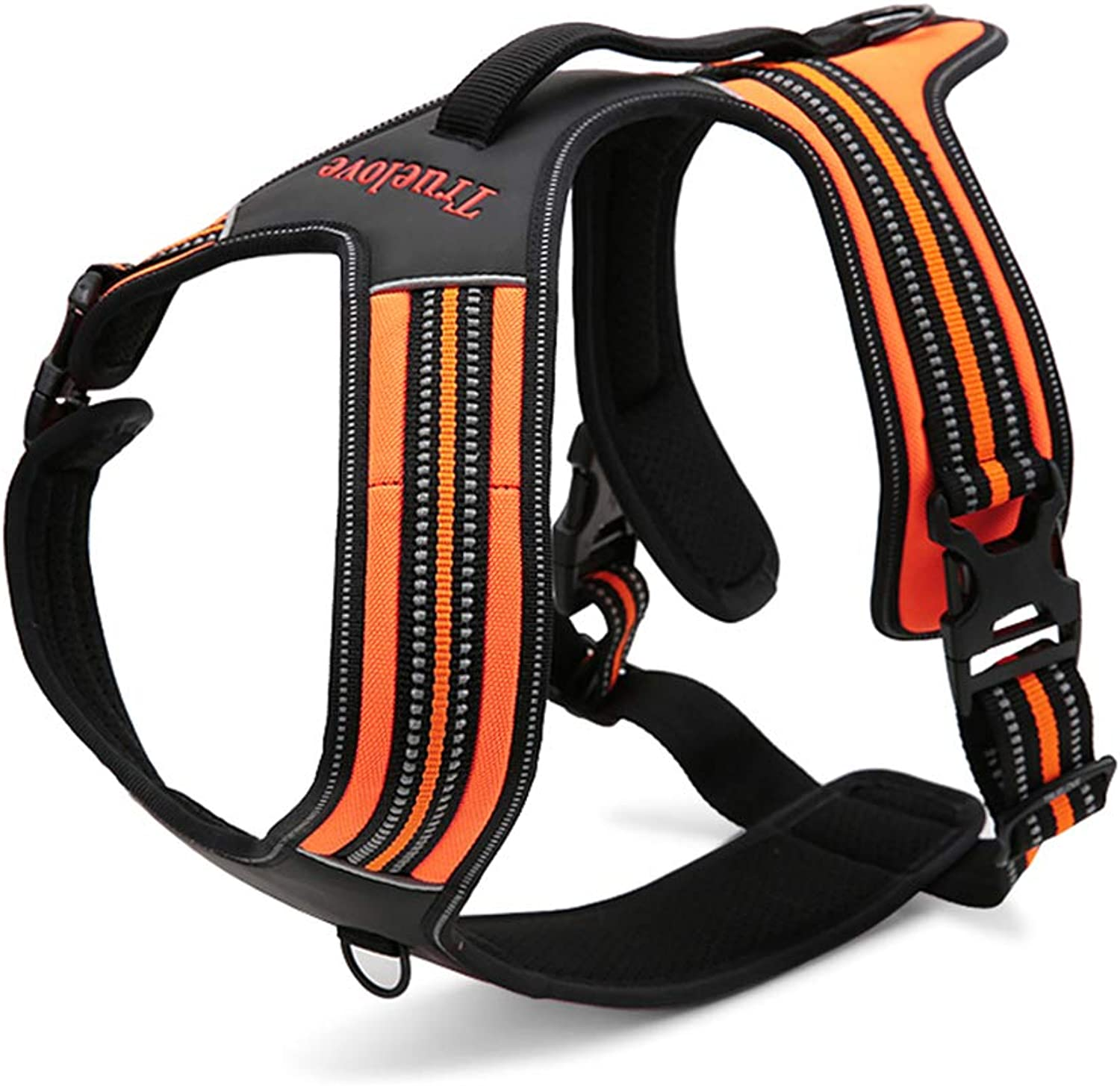 Dog Chest Harness Vest with Handle on Top Breathable Nylon Material is Suitable for All Kinds of Dogs Walking, Hiking