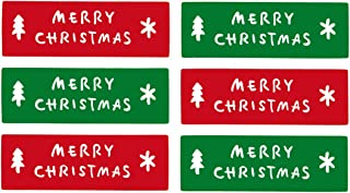 LSW Set of 120 Merry Christmas Rectangle Holiday Stickers